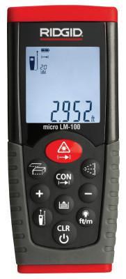 RIDGID Micro LM-100 Laser Distance Meters, Inches/Feet/Meters to 164 ft