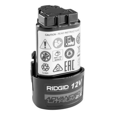 RIDGID 12V Advanced Lithium Batteries, 2.5Ah