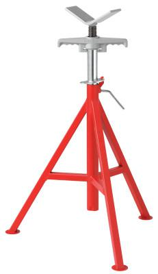 RIDGID VJ-98 V-Head Low Pipe Stand, 20 in to 38 in High