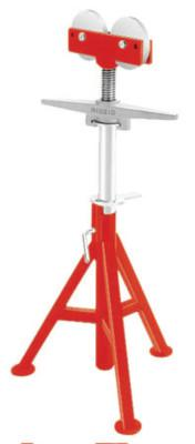RIDGID RJ-98 Roller Head Low Pipe Stand, 24 in to 42 in High