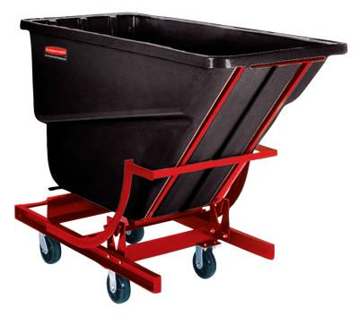 RUBBERMAID COMMERCIAL Self-Dumping Hoppers, 1/2 yd3, 750 lb