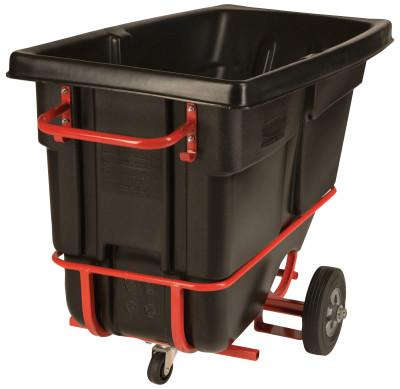 RUBBERMAID COMMERCIAL Forkliftable Tilt Trucks, 1/2 yd3, 850 lb