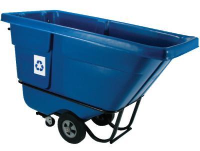 RUBBERMAID COMMERCIAL Recycling Tilt Trucks, 1/2 yd3, 850 lb