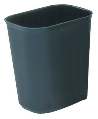 RUBBERMAID COMMERCIAL Fire Resistant Wastebaskets, 28 qt, Fiberglass, Black