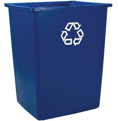 RUBBERMAID COMMERCIAL Glutton Recycling Containers, 56 gal, Blue