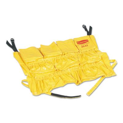 RUBBERMAID COMMERCIAL Brute Rim Caddies For Use With Brute 32 gal/44 gal Containers, 20 in dia, Yellow