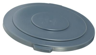 RUBBERMAID COMMERCIAL Brute Round Container Lids, For 55 Gal. Brute Round Containers, 26 3/4 in