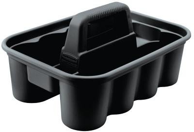 RUBBERMAID COMMERCIAL Deluxe Carry Caddy's, 10.9 in W x D x 7.4 in H, Black