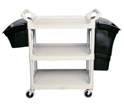 RUBBERMAID COMMERCIAL Utility/Service Carts, 200 lb, 33 5/8 X 18 5/8 X 37 3/4h, Off-White