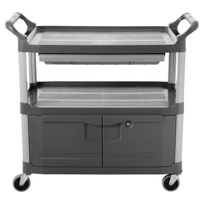 RUBBERMAID COMMERCIAL Carts, 300 lb, 40 5/8 X 20 X 37 13/16h, Gray