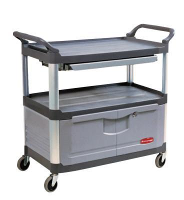 RUBBERMAID COMMERCIAL Carts, 300 lb, 40 5/8 X 20 3/4 X 37 7/8h, Black