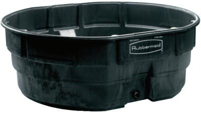 RUBBERMAID COMMERCIAL 300 GAL STOCK TANK BLK