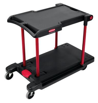 RUBBERMAID COMMERCIAL Convertible Utility Carts, 250 lb; 400 lb, 42 1/2 X 23 4/5 X 34 2/5h, Black