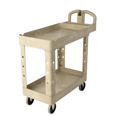 RUBBERMAID COMMERCIAL Utility Carts, 500 lb, 38 1/2 X 17 1/4 X 38 3/4h, Beige