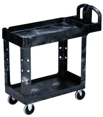 RUBBERMAID COMMERCIAL Utility Carts, 500 lb, 39 1/4 X 17 7/8 X 33 1/4h, Black