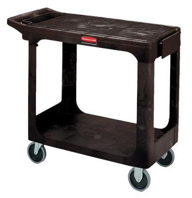 RUBBERMAID COMMERCIAL Flat Shelf Carts, 500 lb, 37 1/8 X 19 3/16 X 33 5/16h, Black