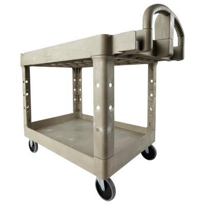 RUBBERMAID COMMERCIAL Utility Carts, 500 lb, 45 1/4 X 25 7/8 X 33 1/4h, Beige