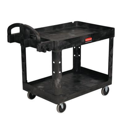 RUBBERMAID COMMERCIAL Utility Carts, 500 lb, 45 1/4 X 25 7/8 X 33 1/4h, Black