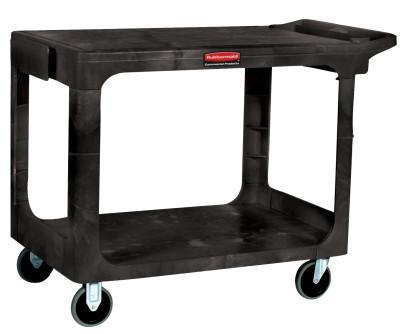 RUBBERMAID COMMERCIAL Heavy-Duty Flat Shelf Utility Carts, 500 lb, 38 1/2 X 17 1/4 X 38 1/8h, Beige