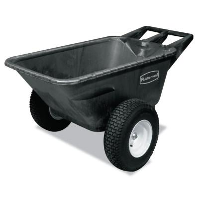 RUBBERMAID COMMERCIAL Big Wheel Cart, 41 in w x 57 in l x 26 in h, 700 lb Max Load, Black, 55 lb