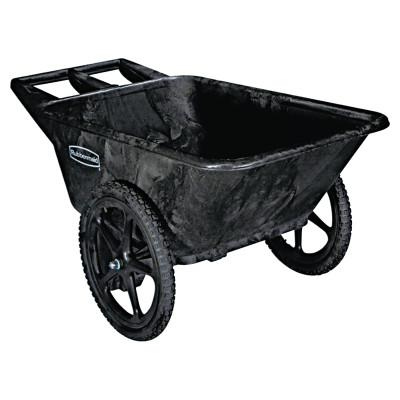 RUBBERMAID COMMERCIAL Big Wheel Agriculture Cart, 300-lb Cap, 32-3/4 x 58 x 28-1/4, Black