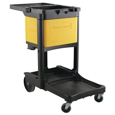 RUBBERMAID COMMERCIAL Locking Cabinet, For Rubbermaid Commercial Cleaning Carts, Yellow