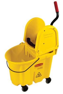 RUBBERMAID COMMERCIAL WaveBrake Down Press Combo, 35 qt, Yellow