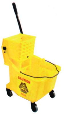 RUBBERMAID COMMERCIAL Bucket/Wringer Combination Pack, 44 qt, Yellow