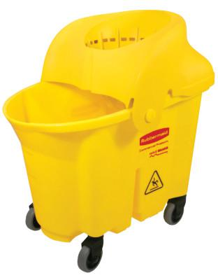 RUBBERMAID COMMERCIAL Brute Institutional Mop Bucket & Wringer, 35 qt, Yellow