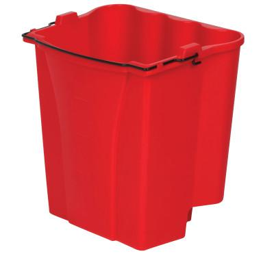 RUBBERMAID COMMERCIAL Dirty Water Bucket, 18 qt, Red