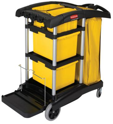 RUBBERMAID COMMERCIAL BLACK MICROFIBER JANITORCART