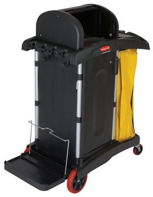 RUBBERMAID COMMERCIAL BLACK HIGH SECURITY JANITOR CART