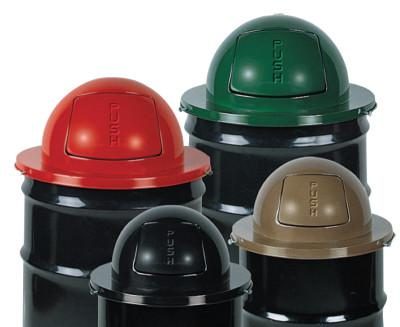 RUBBERMAID COMMERCIAL Steel Dome Tops, For MT32, H55, H55E, SBR52; or 55 Gal. Drums, 24 1/2 in