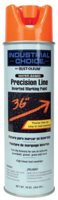 RUST-OLEUM M1600/M1800 Precision-Line Inverted Marking Paint,17oz,Fluorescent Orange, W/B