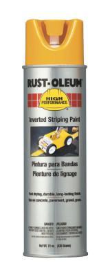 RUST-OLEUM High Performance 2300 System Inverted Striping Paints,20oz  Aerosol, Yellow,Matte