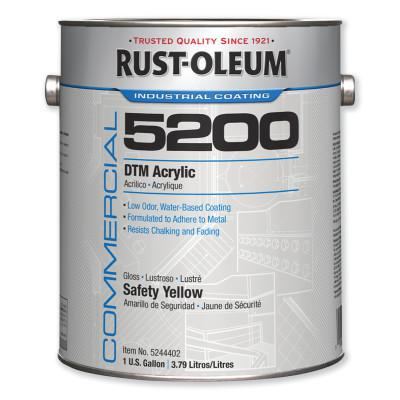 RUST-OLEUM Commercial 5200 System DTM Acrylics, 1 Gallon, Safety Yellow