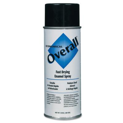 RUST-OLEUM Overall Economical Fast Drying Enamel Aerosols, 10 oz Aerosol Can, Gloss Black