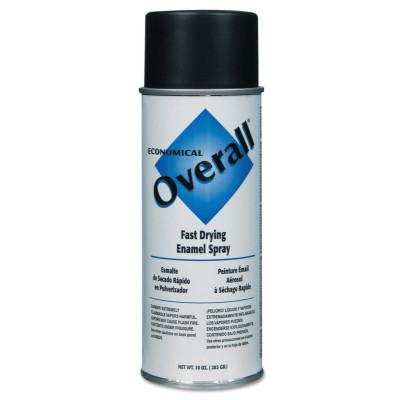 RUST-OLEUM Overall Economical Fast Drying Enamel Aerosols, 10 oz Aerosol Can, Flat Black