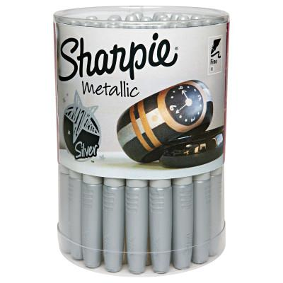 SHARPIE Sharpie Metallic Permanent Marker, Silver, Fine, Fine Tip