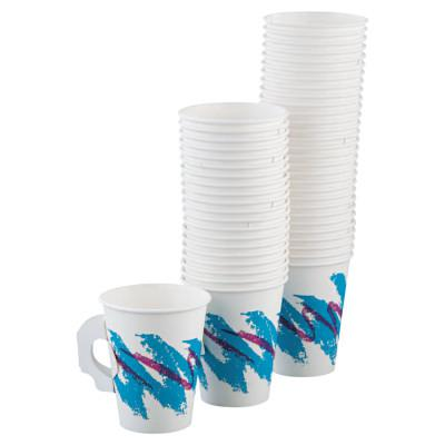 SOLO Single Sided Poly Paper Hot Cups, 10 oz, Jazz Design