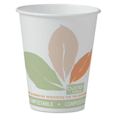 SOLO Eco-Forward Compostable PLA Paper Hot Cups, 8 oz, Bare