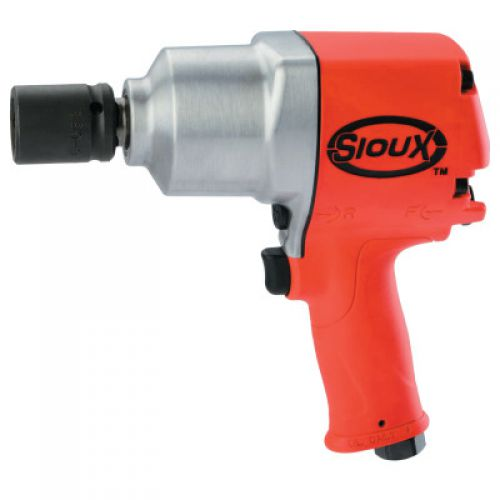 SIOUX TOOLS 3/4 in Air Impact Wrenches, 1050 ft lb, Pinned Anvil Retainer