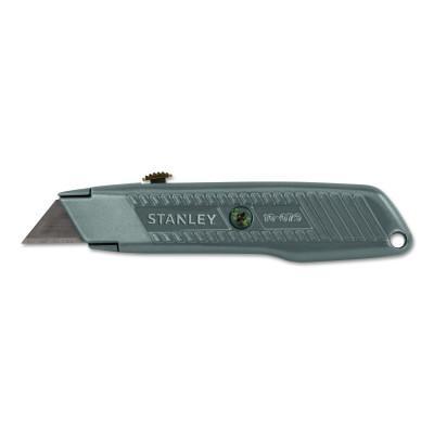 STANLEY Interlock® Retractable Utility Knife, 5-7/8 in L, Carbon Steel, Metal, Gray