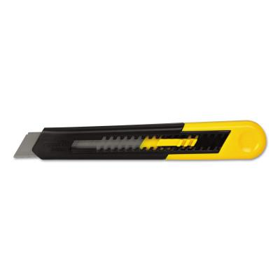 STANLEY Quick Point™ Knife, 6-1/2 in, Snap-Off, Carbon Steel, Black/Yellow