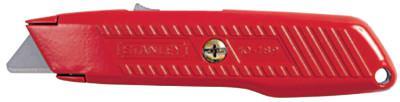 STANLEY Self-Retracting Utility Knife, 5-7/8 in, Carbon Steel, Orange