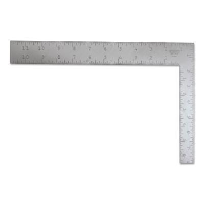 STANLEY Steel Squares, 8 in x 12 in, Face-1/16 in; Back-1/16 in, Steel