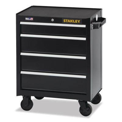 STANLEY 300 Series Rolling Tool Chest, 26 in, 4-Drawer, Black