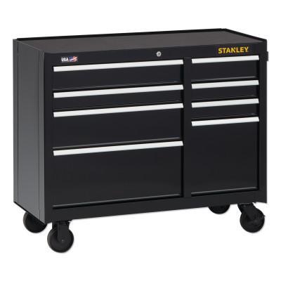 STANLEY 300 Series Rolling Tool Cabinet, 8-Drawer, 41 in, Black