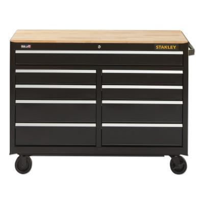 STANLEY 300 Series Mobile Work Bench, 41 in, 7-Drawer, Black