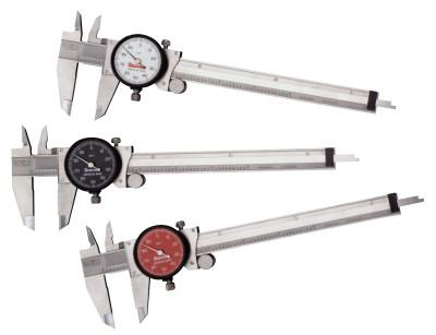 L.S. STARRETT 120 Series Dial Calipers, 0 in-6 in